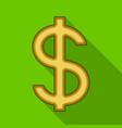 dollar signrealtor single icon in flat style vector image vector image