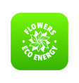 eco flower icon green vector image vector image
