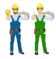 electrician showing thumbs up vector image vector image