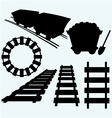 Elements of the railway vector image vector image