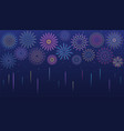 festive multicolored fireworks in various forms vector image vector image