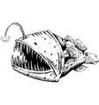 fish-dog fish angler or sea devil vector image