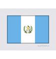 Flag of Guatemala Aspect Ratio 2 to 3 vector image