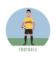 football player flat style vector image vector image