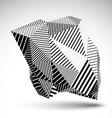 Geometric monochrome abstract 3D complicated vector image vector image