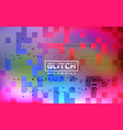 glitch holographic background cyberpunk retro vector image vector image