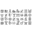 gynecologist icons set outline style vector image vector image