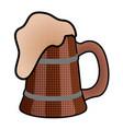 halftoned style beer mug icon vector image