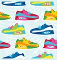 hand drawn cartoon style hipster sneaker shoes vector image