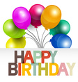 Happy Birthday Birthday Card with Colorful vector image vector image