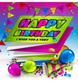 Happy birthday greeting card Text on folded