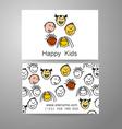 happy kids logo vector image vector image