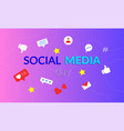 happy social media day banner abstract background vector image vector image
