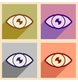 Icons of assembly human eye in flat style vector image vector image