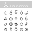 Icons set fruits vector image vector image