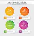 infographics circle paper with 4 data template vector image