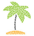 island tropic palm composition of dollar and dots vector image vector image