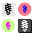 light bulb flat icon vector image