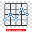 Line Plot Eps Icon vector image vector image