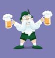 man with beer in hands vector image