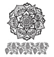 Mandala style abstract flower vector image
