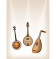 Musical Instrument Strings on Brown Stage vector image