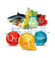 natural fresh organic food vector image vector image