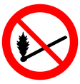 No fire sign vector image vector image