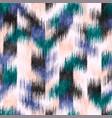 noisy stylized grungy ikat geo worn rug seamless vector image