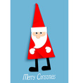 Paper Santa Claus vector image