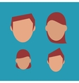 people faceless heads image vector image vector image