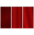 red metal perforated backgrounds brochure design vector image vector image