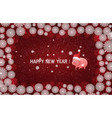 red new year background with white snowflakes and vector image vector image