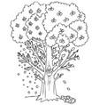 season coloring fruit tree vector image vector image