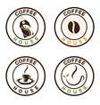 set of coffee labels vector image vector image