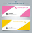 set of template paper rip web banner pink and vector image