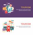 set web banners flat style tourism concept vector image