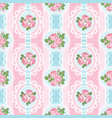 shabchic rose seamless pattern on pink vector image vector image