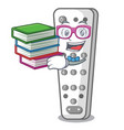 student with book cartoon remote control of air vector image vector image