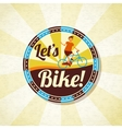 Summer bike riding retro background vector image vector image