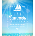 Summer holiday lettering emblem with yacht vector | Price: 3 Credits (USD $3)