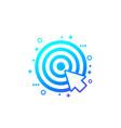 target and cursor digital marketing icon vector image