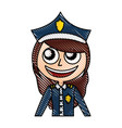 woman police officer avatar character vector image vector image