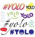 yolo symbols set vector image