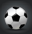 isolated realistic football design on gray vector image
