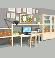 interior of workroom in cartoon style vector image