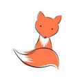 cute funny fox character animal vector image