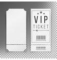 ticket template set blank theater cinema vector image