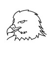 animal eagle icon design clip art line icon vector image