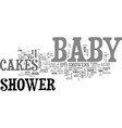 baby shower cakes text word cloud concept vector image vector image